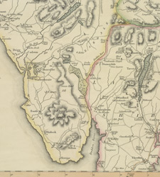 Smith's New And Accurate Map Of The Lakes, 1800